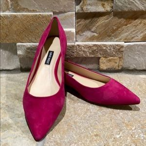 NEW! Nine West, pink suede loafers